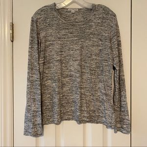 James Perse Heather Gray Long Sleeve Tee